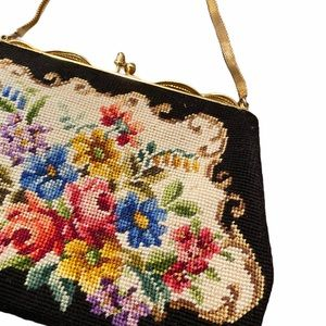 Vintage Needlepoint Purse, By Maison Blanche